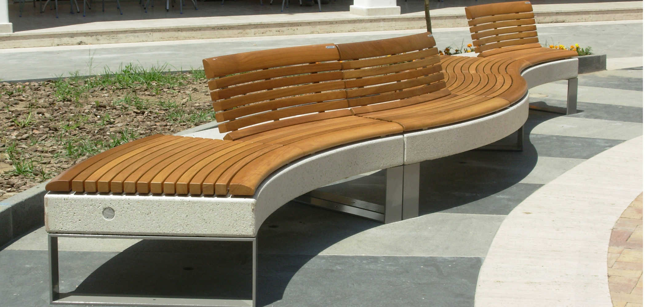 Diamante Wood Seats Metalco Mobiliar